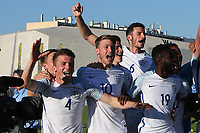 England's Josh Tymon (No 4) celebrates winning the Toulon Tournament during England Under-18 vs Ivory Coast Under-20, Toulon Tournament Final Football at Stade de Lattre-de-Tassigny on 10th June 2017