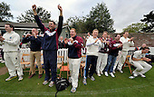 Cricket Scotland - Scottish Championship Grand Final - Watsonians CC V Dumfries CC- at Grange Loan (Edinburgh) - celebrations begin for Watsonians as they see victory reached out on the field - 08.9.12 - 07702 319 738 - clanmacleod@btinternet.com - www.donald-macleod.com