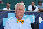 01 August 2015: Tampa Bay head coach Thomas Rongen (NED). The Carolina RailHawks hosted the Tampa Bay Rowdies FC at WakeMed Stadium in Cary, North Carolina in a North American Soccer League 2015 Fall Season match. The game ended in a 1-1 tie.