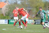 VOETBAL: JOURE: 30-04-2016, SC Joure - SV Mulier, Herman Sprik (SV Mulier), Anton Jellema, uitslag 2-1, ©foto Martin de Jong