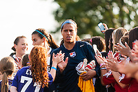 Sky Blue FC goalkeeper Brittany Cameron (1). Sky Blue FC defeated the Washington Spirit 1-0 during a National Women's Soccer League (NWSL) match at Yurcak Field in Piscataway, NJ, on August 3, 2013.