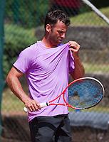 09-07-13, Netherlands, Scheveningen,  Mets, Tennis, Sport1 Open, day two, Marc Gicquel (FRA)<br /> <br /> <br /> Photo: Henk Koster