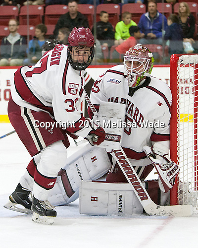 Desmond Bergin (Harvard - 37), Michael Lackey (Harvard - 35) - The Harvard University Crimson defeated the visiting Brown University Brown Bears 5-2 (EN) on Saturday, November 7, 2015, at Bright-Landry Center in Boston, Massachusetts.