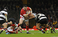 Wales Rob Evans looks for a way through<br /> <br /> Photographer Ian Cook/CameraSport<br /> <br /> 2019 Autumn Internationals - Wales v Barbarians - Saturday 30th November 2019 - Principality Stadium - Cardifff<br /> <br /> World Copyright © 2019 CameraSport. All rights reserved. 43 Linden Ave. Countesthorpe. Leicester. England. LE8 5PG - Tel: +44 (0) 116 277 4147 - admin@camerasport.com - www.camerasport.com