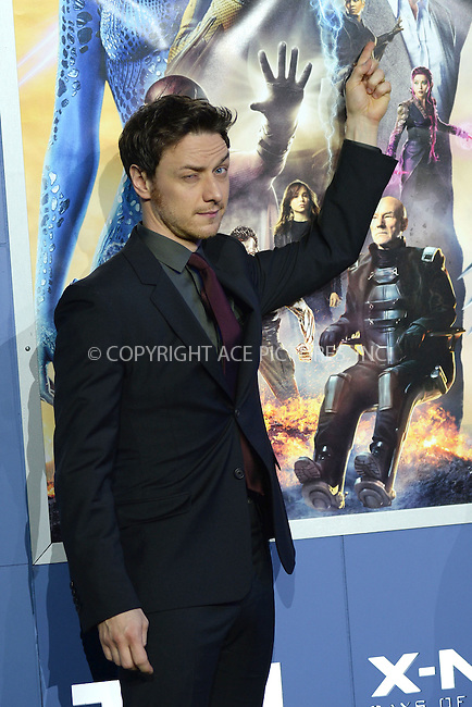 WWW.ACEPIXS.COM<br /> May 10, 2014 New York City<br /> <br /> James McAvoy attending the 'X-Men: Days Of Future Past' world premiere at Jacob Javits Center onMay 10, 2014 in New York City.<br /> <br /> Please byline: Kristin Callahan<br /> <br /> ACEPIXS.COM<br /> <br /> Tel: (212) 243 8787 or (646) 769 0430<br /> e-mail: info@acepixs.com<br /> web: http://www.acepixs.com