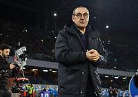 26th January 2020; Stadio San Paolo, Naples, Campania, Italy; Serie A Football, Napoli versus Juventus; Maurizio Sarri coach of Juventus