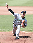 Masahiro Tanaka (RailRiders), MAY 27, 2015 - 3A : New York Yankees pitcher Masahiro Tanaka pitches during a minor league baseball game against the Pawtucket Red Sox at McCoy Stadium in Pawtucket, Rhode Island, United States. (Photo by AFLO)