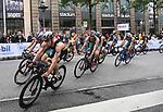 06.07.2019,  Innenstadt, Hamburg, GER, Hamburg Wasser World Triathlon, Elite Mainner, im Bild die Triathleten auf dem Fahrrad auf der Moenckebergstrasse mit Justus Nieschlag (GER) im Vordergrund Foto © nordphoto / Witke *** Local Caption ***