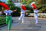 Exercicio de Tai-Chi-Chuan em Xangai. China. 1994. Foto de Nair Benedicto.