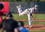4 September 2016: Vermont Lake Monsters pitcher Dakota Chalmers on the mound against the Lowell Spinners at Centennial Field in Burlington, Vermont. The Lake Monsters fell to the Spinners 8-3 in NY Penn League action. Mandatory Credit: Ed Wolfstein Photo *** RAW (NEF) Image File Available ***