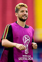 MOSCOW, RUSSIA - JUNE 22 : Dries Mertens forward of Belgium pictured during a training session of the National Soccer Team of Belgium prior to the FIFA 2018 World Cup Russia group G phase match between Belgium and Tunisia at the Spartak Stadium on June 22, 2018 in Moscow, Russia, 22/06/2018  <br /> Football FIFA World Cup Russia  2018 <br /> Foto Panoramic/Insidefoto