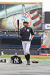 Ichiro Suzuki (Yankees),<br /> APRIL 7, 2014 - MLB :<br /> Ichiro Suzuki of the New York Yankees during batting practice before the Yankees home opener against the Baltimore Orioles at Yankee Stadium in Bronx, New York, United States. (Photo by Thomas Anderson/AFLO) (JAPANESE NEWSPAPER OUT)