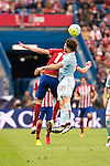 Atletico de Madrid's Saul and Celta de Vigo's Planas during La Liga Match at Vicente Calderon Stadium in Madrid. May 14, 2016. (ALTERPHOTOS/BorjaB.Hojas)