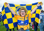 Clare fan Bridget Barry shows her delight following their Munster  championship round robin game win over Waterford at Cusack Park Photograph by John Kelly.