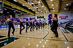 19 January 2019: University of Vermont Dance Team prepares to welcome the Catamount Men's Basketball Team prior to a game against the Binghamton University Bearcats at Patrick Gymnasium in Burlington, Vermont. The Catamounts defeated the Bearcats 78-50 to remain unbeaten in conference play this season. Mandatory Credit: Ed Wolfstein Photo *** RAW (NEF) Image File Available ***