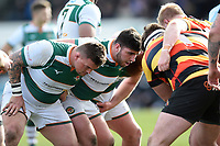 Matt Cornish of Ealing Trailfinders looks on at a scrum. Greene King IPA Championship match, between Richmond and Ealing Trailfinders on March 9, 2019 at the Richmond Athletic Ground in London, England. Photo by: Patrick Khachfe / Onside Images