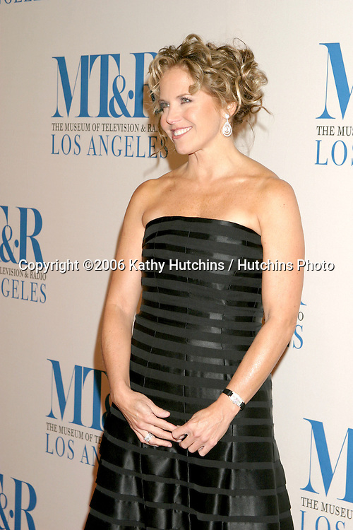 Katie Couric.Museum of TV & Radio Annual Gala IHO Les Moonves and Jerry Bruckheimer.Regent Beverly Wilshire Hotel.Beverly Hills, CA.October 30, 2006.©2006 Kathy Hutchins / Hutchins Photo....