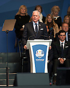 25.09.2014. Gleneagles, Auchterarder, Perthshire, Scotland.  The Ryder Cup.  PGA president Ted Bishop at the opening ceremony.