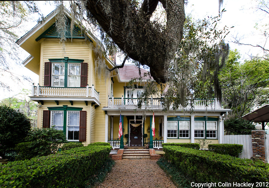 BED, BREAKFAST AND BEYOND: The restored Clarke House, built in 1890 on Mahan Drive near the center of Monticello is now the Avera-Clarke House Bed and Breakfast..COLIN HACKLEY PHOTO