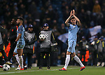 John Stones of Manchester City applauds the fans during the Champions League Group C match at the Etihad Stadium, Manchester. Picture date: November 1st, 2016. Pic Simon Bellis/Sportimage