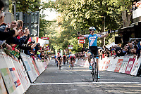 race winner Krist Neilands (LAT/Israel Cycling Academy) crossing the finish line<br /> <br /> 60th Grand Prix de Wallonie 2019<br /> 1 day race from Blegny to Citadelle de Namur (BEL / 206km)<br /> <br /> ©kramon