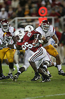 4 November 2006: Anthony Kimble during Stanford's 42-0 loss to USC at Stanford Stadium in Stanford, CA.