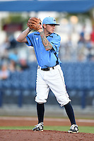 Charlotte Stone Crabs pitcher Nick Sawyer (20) gets ready to deliver a pitch during a game against the Palm Beach Cardinals on April 12, 2014 at Charlotte Sports Park in Port Charlotte, Florida.  Palm Beach defeated Charlotte 6-2.  (Mike Janes/Four Seam Images)