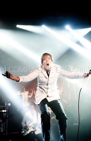 Concert of the Swedish rock band The Hives at the Crammerock festival, in Stekene (Belgium, 07/09/2014)