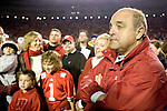 MADISON, WI - NOVEMBER 12: Post-game ceremony for head coach Barry Alvarez of the Wisconsin Badgers at Camp Randall Stadium on November 12, 2005 in Madison, Wisconsin. The Hawkeyes beat the Badgers 20-10. (Photo by David Stluka)