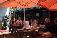 Austria, Lower Austria, UNESCO World Heritage Wachau, Duernstein: in fine weather garden restaurants are well frequented
