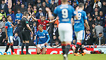 07.04.2018 Rangers v Dundee:<br /> Bruno Alves booked