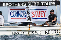 NAMOTU, Fiji (Wednesday, June 14, 2017) Connor O'Leary (AUS) and Stu Kennedy (AUS) fans - The Outerknown Fiji Pro, Stop No. 5 on the 2017 World Surf League (WSL) Championship Tour (CT), was called ON for an 8:15 a.m. start in three-to-five foot (1 - 1.5 metre) conditions at Cloudbreak this morning. Men's Round 4 was completed before Round 5 was put on standby for a possible start at 2 pm. <br /> <br /> &quot;We are seeing clean conditions out there at Cloudbreak,&quot; said WSL Deputy Commissioner, Renato Hickel. &quot;Round 4 is on and we will start at 8:15 a.m. local time. We will put Round 5 on hold for a possible start. We will check back in after the Round 4 to see if we will continue running heats.&quot;<br /> <br /> Location:      Tavarua/Namotu, Fiji<br /> Event window:   June 4 - 16, 2017<br /> Today's call:<br />  Round 4 called ON for 8:15 AM Start <br /> Conditions:         3 - 5 foot (1 - 1.5 metre)<br /> <br /> Photo: joliphotos.com