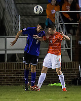 The number 24 ranked Furman Paladins took on the number 20 ranked Clemson Tigers in an inter-conference game at Clemson's Riggs Field.  Furman defeated Clemson 2-1.  Jack Metcalf (4), Tony Santibanez (2)