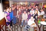 Mike Keane, Gneeveguilla, pictured with his family, friends and former colleagues as he celebrated his retirement from the OPW after 31 years service, in Corkerys Bar, Killarney on Friday night.