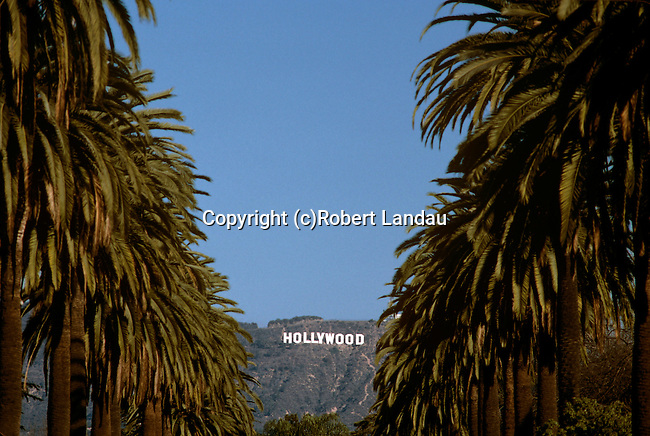 The famous Hollywood Sign in the Hollywood Hills, CA