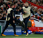 Philippe Coutinho of Liverpool warms up as a substitute during the Champions League Group E match at the Anfield Stadium, Liverpool. Picture date 13th September 2017. Picture credit should read: Simon Bellis/Sportimage