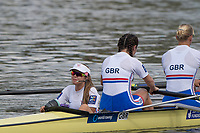 Sarasota. Florida USA.  GBR PR 3 4+  Cox Anna CORDEROY,  steers the boat to the awards dock. Final A. 2017 World Rowing Championships, Nathan Benderson Park<br /> <br /> Saturday  30.09.17   <br /> <br /> [Mandatory Credit. Peter SPURRIER/Intersport Images].<br /> <br /> <br /> NIKON CORPORATION -  NIKON D500  lens  VR 500mm f/4G IF-ED mm. 250 ISO 1/1000/sec. f 5