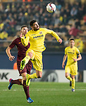 Mateo Pablo Musacchio of Villarreal CF  fights for the ball with Edin Dzeko of AS Roma Villarreal CF vs AS Roma, part of the UEFA Europa League 2016-17 Round of 32 at the Estadio de la Cerámica on 16 February 2017 in Villarreal, Spain. Photo by Maria Jose Segovia Carmona / Power Sport Images