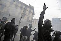 - Milano 1 maggio 2015, manifestazione Mayday Parade in protesta contro l'Esposizione Universale EXPO 2015, scontri con la polizia<br /> <br /> - Milan, May 1, 2015, Mayday Parade demonstration in protest against the World Exposition EXPO 2015, clashes with police