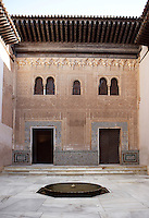 The courtyard of the Mexuar, The Mexuar Palace, 14th century, under the reign of Isma?il I, substantial alterations during the reign of Yusuf I (1333 ? 1354) and of his son Muhammad V (1354 ? 1359, 1362 ? 1391), The Alhambra, Granada, Andalusia, Spain. Picture by Manuel Cohen