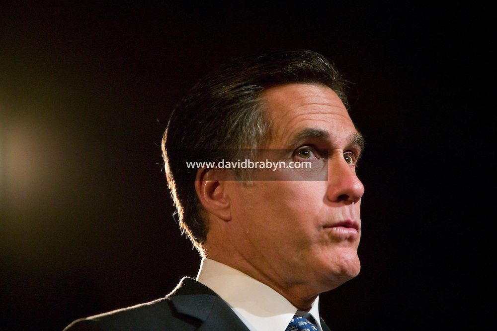 Republican presidential hopeful and former Massachusetts Governor Mitt Romney keynotes Yeshiva University's Sy Syms School of Business dinner at Gotham Hall in New York City, USA, 26 April 2007.