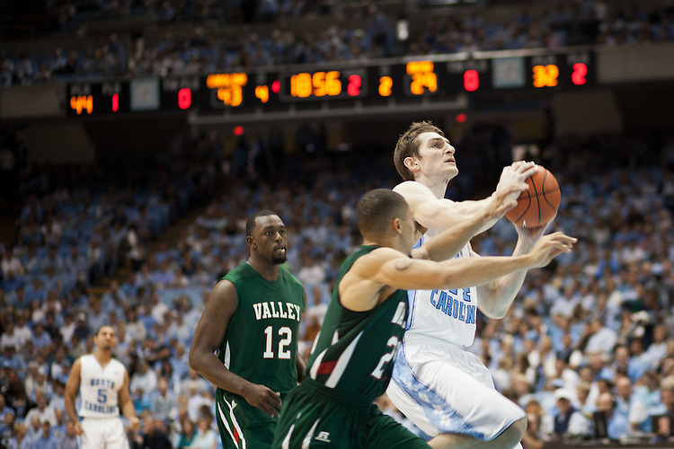 Tyler Zeller, UNC vs Mississippi Valley State at the Dean Smith Center, Chapel Hill, NC, Sunday, November 20, 2011. .