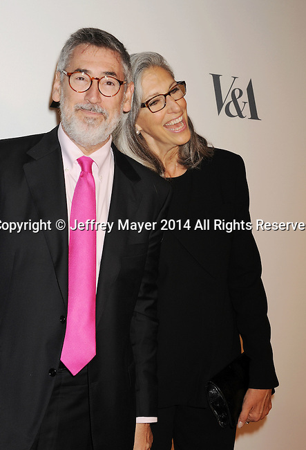 LOS ANGELES, CA- OCTOBER 01: Director John Landis (L) and wife/costume designer Deborah Nadoolman Landis attend The Academy of Motion Picture Arts and Sciences' Hollywood Costume Opening Party at the Wilshire May Company Building on October 1, 2014 in Los Angeles, California.