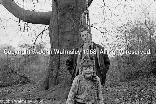 "John Walmsley, photography student from Guildford School of Art, on one of his visits to the school, Summerhill school, Leiston, Suffolk, UK. 1968.  He was working on his final year project which was published by Penguins in 1969 as ""Neill & Summerhill: A Man and his Work""."