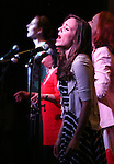 Laura Osnes with Marla Mindelle; Ann Harada and Harriet Harris  during the 'Rodgers + Hammerstein's Cinderella'  Original Cast Recording CD release performance at Barnes & Noble 86th Street in New York City on June 13, 2013