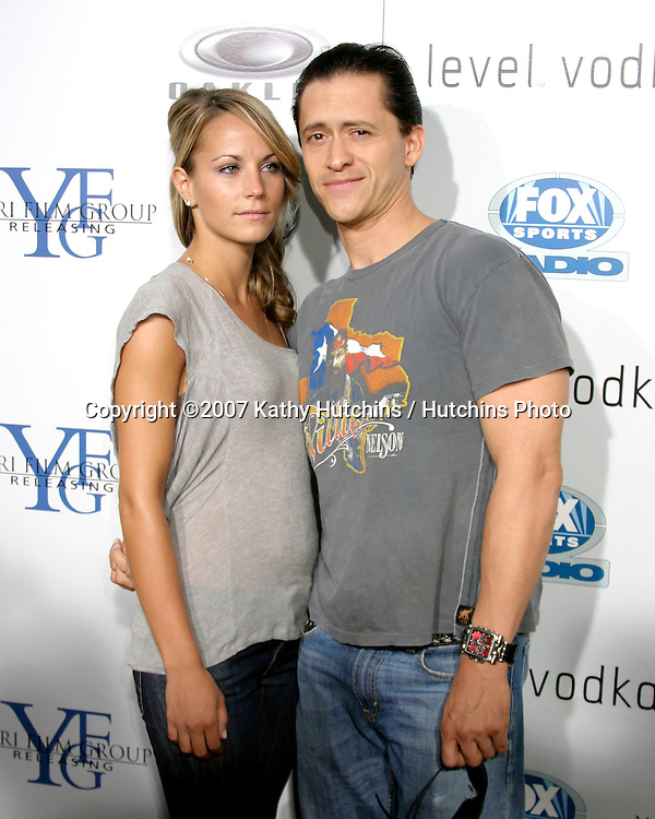 "Clifton Collins Jr & Date.""Resurrecting The Champ"" Premiere.Beverly Hills,  CA.Aug 22, 2007.©2007 Kathy Hutchins / Hutchins Photo...."