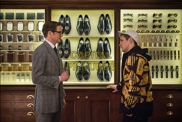 Colin Firth, Taron Egerton<br /> in Kingsman: The Secret Service (2014) <br /> *Filmstill - Editorial Use Only*<br /> CAP/NFS<br /> Image supplied by Capital Pictures