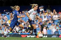 Gemma Davison of Tottenham Hotspur Women races upfield during Chelsea Women vs Tottenham Hotspur Women, Barclays FA Women's Super League Football at Stamford Bridge on 8th September 2019