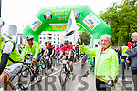 Denis Geaney, founding member of the Ring of Kerry Cycle had the honour of officially starting the 2015 ROK charity cycle on Saturday morning.