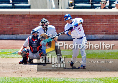 25 July 2012: New York Mets shortstop Ruben Tejada in action against the Washington Nationals at Citi Field in Flushing, NY. The Nationals defeated the Mets 5-2 to sweep their 3-game series. Mandatory Credit: Ed Wolfstein Photo